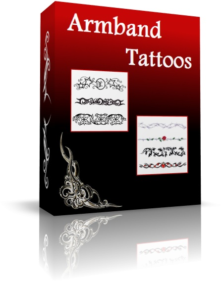 armband tattoovorlagen rund um den arm gewickelt. Black Bedroom Furniture Sets. Home Design Ideas